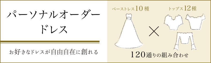 クラシカルから可愛いまで叶える袖ありウェディングドレス『パーソナルオーダードレス』